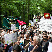Thousands turned out for a march of solidarity against fracking in Balcombe. The village Balcombe in Sussex is the  centre of fracking by the company Cuadrilla. The march saw anti-fracking movements from the Lancashire and the North, Wales and other communities around the UK under threat of gas and oil exploration by fracking.