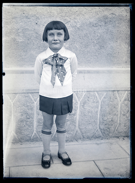 girl standing circa 1930s France