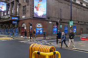 The Prince Edward Theatre which, prior to the Coronavirus pandemic, was showing the Mary Poppins musical on Sohos Old Compton Street in the heart of the West Ends Theatreland, remains closed during Englands third lockdown, on 22 February 2021, in London, England.