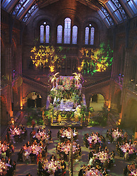 Guests at dinner in the Natural History Museum, at a ball in London on 25th May 1999.MSM 111