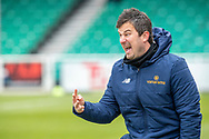 Ian Dyer Woking assistant manager during the Vanarama National League match between Eastleigh and Woking at Silverlake Stadium, Eastleigh, United Kingdom on 10 April 2021.