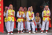 Temple of Literature, Hanoi, Vietnam, Traditional dancers