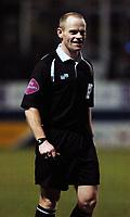 Photo: Daniel Hambury.<br /> Luton Town v Cardiff City. Coca Cola Championship. 14/02/2006.<br /> Referee Andy Woolmer.
