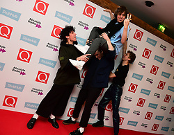 Ratboy and his entourage attending the Stubhub Q Awards 2016, in association with Absolute Radio, at the Roundhouse, London.