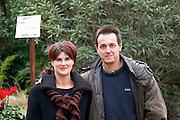 Roland and Anne-Marie Coustal, Castelnau d'Aude village Domaine Terres Georges. In Castelnau d'Aude. Minervois. Languedoc. Owner winemaker. France. Europe.