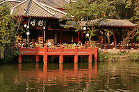 Renmin Park or Peoples Park in Chengdu has many teahouses, a large pond, pleasure boats and lots of greenery right in the center of Chengdu.