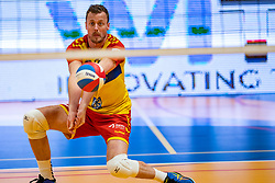 Jeroen Rauwerink of Dynamo in action during the cup final between Amysoft Lycurgus vs. Draisma Dynamo on April 18, 2021 in sports hall Alfa College in Groningen
