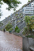 The Alexandra Road Estate on the 7th October 2019 in London in the United Kingdom. The Alexandra Road estate, properly known as the Alexandra and Ainsworth estate, but often referred to as Rowley Way, is a brutalist housing estate in the London Borough of Camden, North West London, England.