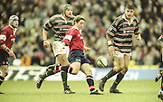 Watford. Great Britain. <br /> Andy GOMERSALL, kick's from midfield during the <br /> Heineken Cup Semi Final; Gloucester Rugby vs Leicester Tigers. Vicarage Road Stadium, Hertfordshire.England.  <br /> <br /> [Mandatory Credit, Peter Spurrier/ Intersport Images].