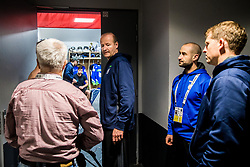 Nik Zupancic, head coach of Slovenia, Ales Burnik and Edo Terglav in Dressing room of Team Slovenia at the 2017 IIHF Men's World Championship, on May 11, 2017 in AccorHotels Arena in Paris, France. Photo by Vid Ponikvar / Sportida