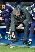 Mourinho with notebook