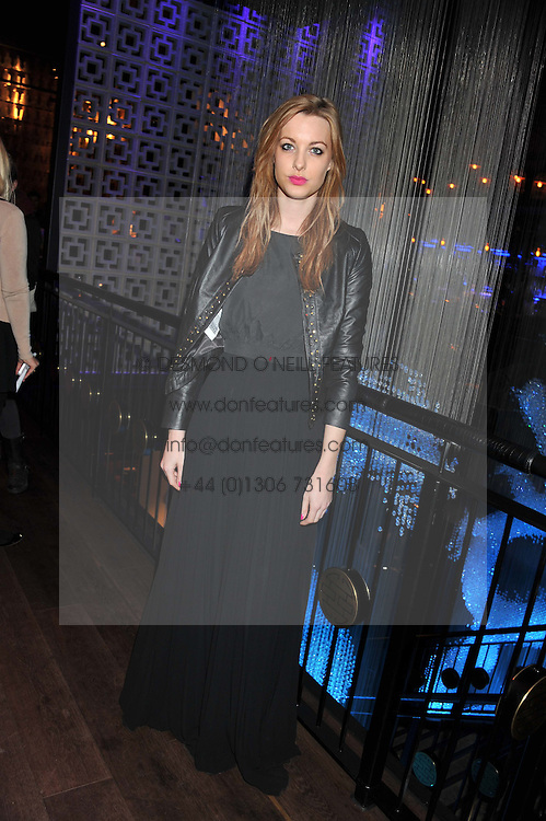 EMILY HARTRIDGE at the ZEO 'Just January' Party held at the Buddha Bar, 145 Knightsbridge, London SW1 on 31st January 2013.