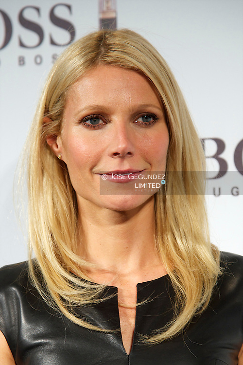 Actress Gwyneth Paltrow Presents 'Boss Nuit Pour Femme' Fragance on October 29, 2012 in Madrid, Spain