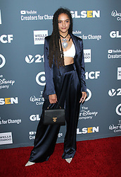GLSEN Respect Awards. 19 Oct 2018 Pictured: Sasha Lane. Photo credit: Jaxon / MEGA TheMegaAgency.com +1 888 505 6342
