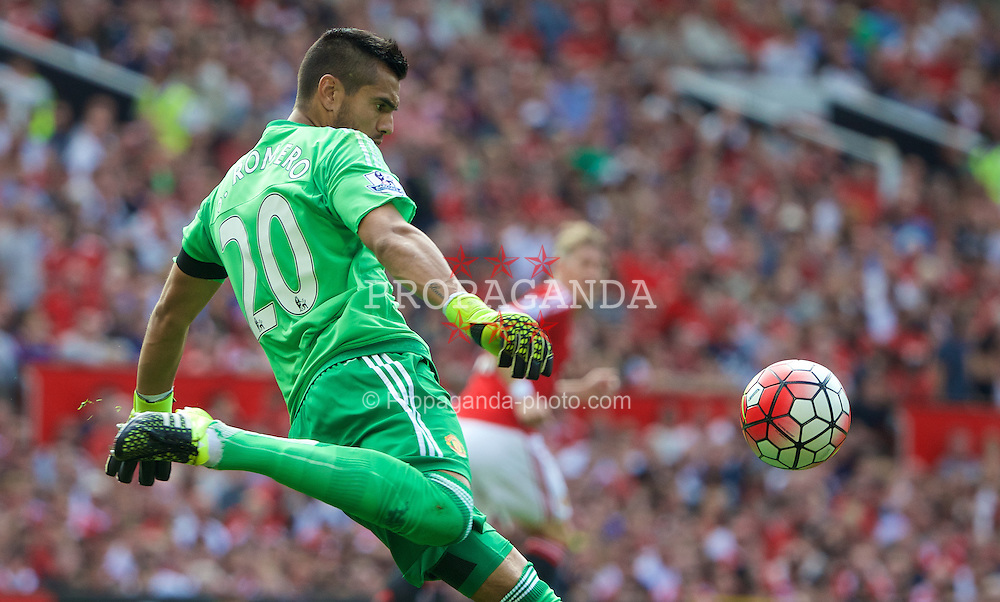 MANCHESTER, ENGLAND - Saturday, August 8, 2015: Manchester United's Sergio Ramero in action against Tottenham Hotspur during the Premier League match at Old Trafford. (Pic by David Rawcliffe/Propaganda)