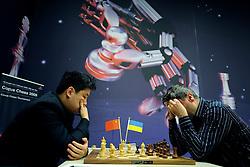 18-01-2009 SCHAKEN: CORUS CHESS: WIJK AAN ZEE<br /> Yue Wang CHN vs Vassily Ivanchuk UKR <br /> ©2009-WWW.FOTOHOOGENDOORN.NL