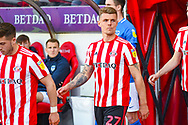 Max Power of Sunderland (27) enters the field during the EFL Sky Bet League 1 first leg Play Off match between Sunderland and Portsmouth at the Stadium Of Light, Sunderland, England on 11 May 2019.