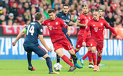 03.05.2016, Allianz Arena, Muenchen, GER, UEFA CL, FC Bayern Muenchen vs Atletico Madrid, Halbfinale, Rueckspiel, im Bild Gabi (Atletico Madrid), Xabi Alonso (FC Bayern Muenchen), Arturo Vidal (FC Bayern Muenchen), Franck Ribery (FC Bayern Muenchen) // Gabi (Atletico Madrid), Xabi Alonso (FC Bayern Muenchen), Arturo Vidal (FC Bayern Muenchen), Franck Ribery (FC Bayern Muenchen) during the UEFA Champions League semi Final, 2nd Leg match between FC Bayern Munich and Atletico Madrid at the Allianz Arena in Muenchen, Germany on 2016/05/03. EXPA Pictures © 2016, PhotoCredit: EXPA/ JFK