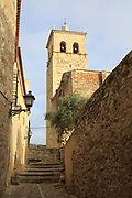 Iglesia de Santa Maria la Major church, in historic medieval town of Trujillo, Caceres province, Extremadura, Spain