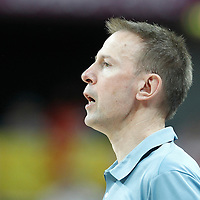 06 August 2012:  France head coach Vincent Collet is seen during the 79-73 Team France victory over Team Nigeria, during the men's basketball preliminary, at the Basketball Arena, in London, Great Britain.