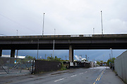 Scene at Gravelly Hill Interchange, aka Spaghetti Junction which is virtually deserted under Coronavirus lockdown, while far fewer vehicles pass overhead on 29th April 2020 in Birmingham, England, United Kingdom. The term Spaghetti Junction was originally used to refer to Gravelly Hill Interchange on the M6 motorway in an article published in the Birmingham Evening Mail on 1 June 1965 the journalist Roy Smith described plans for the junction as like a cross between a plate of spaghetti and an unsuccessful attempt at a Staffordshire knot. Coronavirus or Covid-19 is a new respiratory illness that has not previously been seen in humans. While much or Europe has been placed into lockdown, the UK government has put in place more stringent rules as part of their long term strategy, and in particular social distancing.