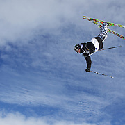 Jossiah Wells, New Zealand, in action during his third place finish in the Freeski Big Air competition at Cardrona, New Zealand during the Winter Games. Wanaka, New Zealand, 20th August 2011. Photo Tim Clayton