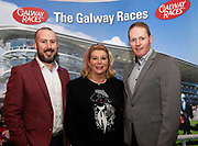 25/09/2018 Repro free: Kieran O'Malley Connacht Hotel, Mary Burke, Loughrea and Michael Moloney GM Galway Race Course the launch of Galway Race course  details of their new and exciting three-day October Festival that takes place over the Bank Holiday weekend, Saturday 27th, Sunday 28th and Monday 29th continuing racing and glamour into the Autumn.<br />   Each of the three race days offers something for all the family to enjoy, with a special theme attached to each day, together with fantastic horse racing, live music, delicious hospitality, entertainment and of course the meeting of old friends and new at Ballybrit.  <br /> Halloween Family Fun <br /> On Saturday 27th October come along with your children and grand children and enjoy the 'Spooktacular' Halloween themed family fun day with lots of entertainment including a fancy-dress competition, Halloween games and face painting to mention but a few!! All weekend children under 16 years of age have free admission. <br /> Race in Pink <br /> As part of this new October Festival and with-it being Breast Cancer Awareness month, Galway Racecourse have partnered with The National Breast Cancer Research Institute to host a dedicated fundraiser on Sunday 28th October called 'Race in Pink'.  <br /> <br /> Student Race Day in aid of the Voluntary Services Abroad <br /> Monday sees the return of our annual 'Student Race Day' in conjunction with the Voluntary Services Abroad (a medical aid charity run by the fourth-year medical students of NUI, Galway), and the NUIG Rugby Club.  Each year, this fundraising day for the student organisations raises a tremendous amount of money for their chosen projects including the VSA annual summer volunteer trip to Africa where they use the funds raised to help projects at the hospitals they visit. <br />  National hunt racing on Saturday kicks off at 2.05pm with racing Sunday and Monday off at 1.05pm. Adult admission on all three days is €15 with children under 16 years of age, free. For 