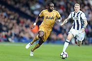 Moussa Sissoko of Tottenham Hotspur  (l) runs past James McClean of West Bromwich Albion. Premier league match, West Bromwich Albion v Tottenham Hotspur at the Hawthorns stadium in West Bromwich, Midlands on Saturday 15th October 2016. pic by Andrew Orchard, Andrew Orchard sports photography.