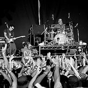 Regurgitator onstage, Gold Coast, Australia (January 2002)