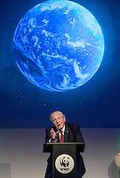 Sir David Attenborough at the Inaugural WWF Living Planet Lecture at The Royal Society, London.