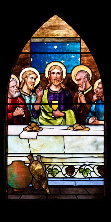 Window 3 on plan.<br /> Saint Saviour's Episcopal Church, Bar Harbor, Maine.