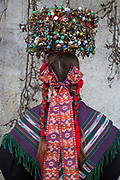 Lisa, member of the Trachtengruppe Zimmern , is wearing a traditional costume in Zimmern ob Rottweil, Germany on April 6, 2018.