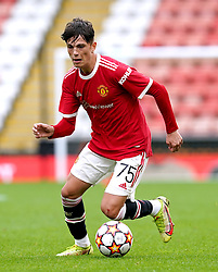Manchester United's Alejandro Garnacho during the UEFA Youth League, Group F match at Leigh Sports Village, Manchester. Picture date: Wednesday September 29, 2021.