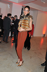 YASMIN GHANDEHARI at a dinner in aid The Journalism Foundation held at Philips De Pury & Company, Howick Place, London, SW1 on 22nd May 2012.