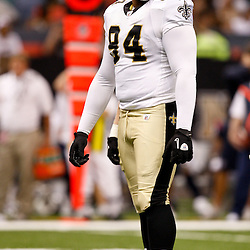 August 21, 2010; New Orleans, LA, USA; New Orleans Saints defensive tackle Al Woods (94) during the second half of a 38-20 win by the New Orleans Saints over the Houston Texans during a preseason game at the Louisiana Superdome. Mandatory Credit: Derick E. Hingle