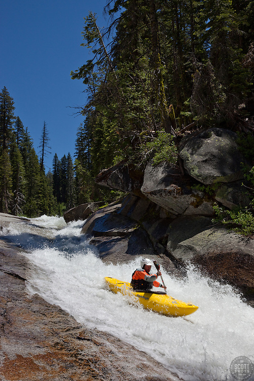 """""""Kayaker on Silver Creek 4"""" - This kayaker was photographed on Silver Creek - South Fork, near Icehouse Reservoir, CA."""
