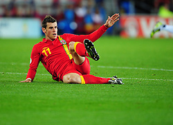 Wales Gareth Bale (Tottenham)  - Photo mandatory by-line: Joe Meredith/JMP  - Tel: Mobile:07966 386802 12/10/2012 - Wales v Scotland - SPORT - FOOTBALL - World Cup Qualifier -  Cardiff   - Cardiff City Stadium -