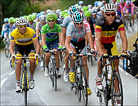Sykkel<br /> Tour de France 2011<br /> 09.07.2011<br /> Foto: PhotoNews/Digitalsport<br /> NORWAY ONLY<br /> <br /> 8th stage / Aigurande - Super-Besse Sancy<br /> <br /> GILBERT Philippe (OMEGA PHARMA - LOTTO - BEL) - HUSHOVD Thor (TEAM GARMIN - CERVELO - NOR)