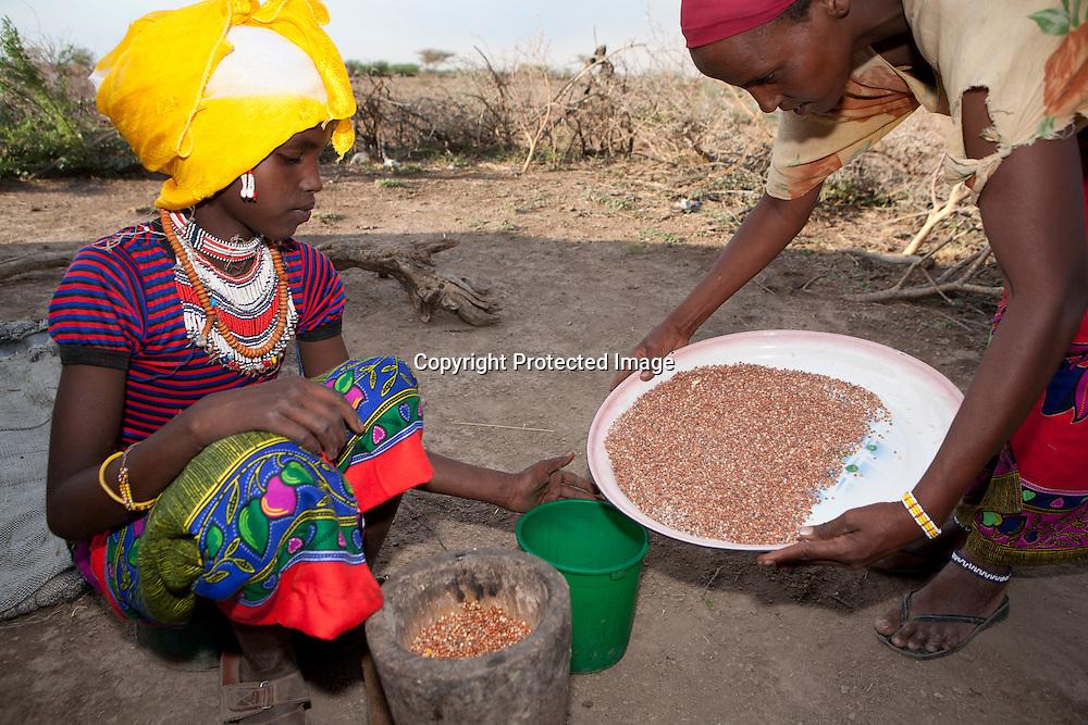 Ethiopian girl at work
