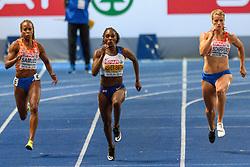 Jamile Samuel brons, Dina Asher-Smith goud en Dafne Schippers zilver op de 200m bij het EK atletiek in Berlijn op 11-8-2018