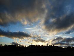 Germany, Sankt Peter  (Black Forest) - November 11, 2018.Autumn sunset landscape wizh cloudy sky (Credit Image: © Antonio Pisacreta/Ropi via ZUMA Press)