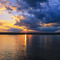"""""""As the End Nears"""" <br /> <br /> Gorgeous light, clouds, and reflections on the waters of Lake Superior at Sunset."""