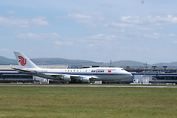 Chinese Repatriation Flight, Edinburgh, 29 May 2020<br /> <br /> An Air China Boeing 747 landed at Edinburgh Airport today from Beijing. It then left for Xi'an Airport in China carrying passengers as a repatriation flight for Chinese nationals who had been stranded in Scotland due to the covid-19 pandemic<br /> <br /> Alex Todd | Edinburgh Elite Media