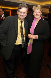 Master betting pundit ANGUS 'Statto' LOUGHRAN and tv presenter CLARE BALDING at a party to celebrate the opening of The Sportsman - a casino, bar and restaurant in Old Quebec Street, London W1 on 12th January 2005.  Proceeds from the casino were donated to the charity Sparks the sports charity.<br /><br />NON EXCLUSIVE - WORLD RIGHTS