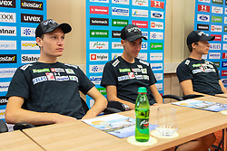 Anze Lanisek during press conference of Slovenian Nordic Ski Jumping team, on June 23, 2020 in Hotel Livada, Moravske Toplice, Slovenia. Photo by Ales Cipot / Sportida