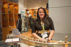 Abbey Boyd from Yellowknife working at Canada's Northern House