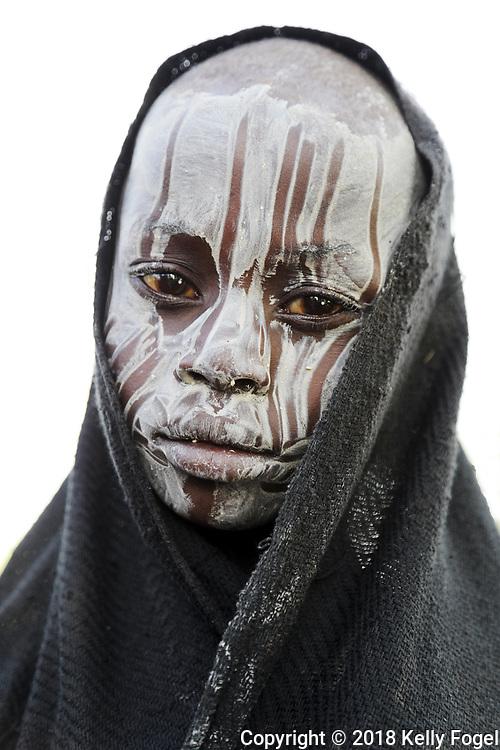 Mursi Tribe, Omo Valley, Southern Ethiopia. Kamena Village, Mago National Park.