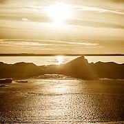 Spectacular Lake Michigan Winter Sunset On Grand Traverse Bay