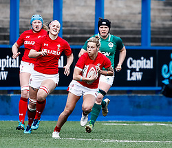 Keira Bevan of Wales<br /> <br /> Photographer Simon King/Replay Images<br /> <br /> Six Nations Round 5 - Wales Women v Ireland Women- Sunday 17th March 2019 - Cardiff Arms Park - Cardiff<br /> <br /> World Copyright © Replay Images . All rights reserved. info@replayimages.co.uk - http://replayimages.co.uk