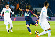 Yuri Berchiche (psg) during the French Cup football match between Paris Saint-Germain and Marseille on February 28, 2018 at Parc des Princes Stadium in Paris, France - Photo Pierre Charlier / ProSportsImages / DPPI